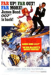 James Bond On Her Majesty's Secret Service poster