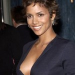 halle berry sideboob sedu short hair suit top