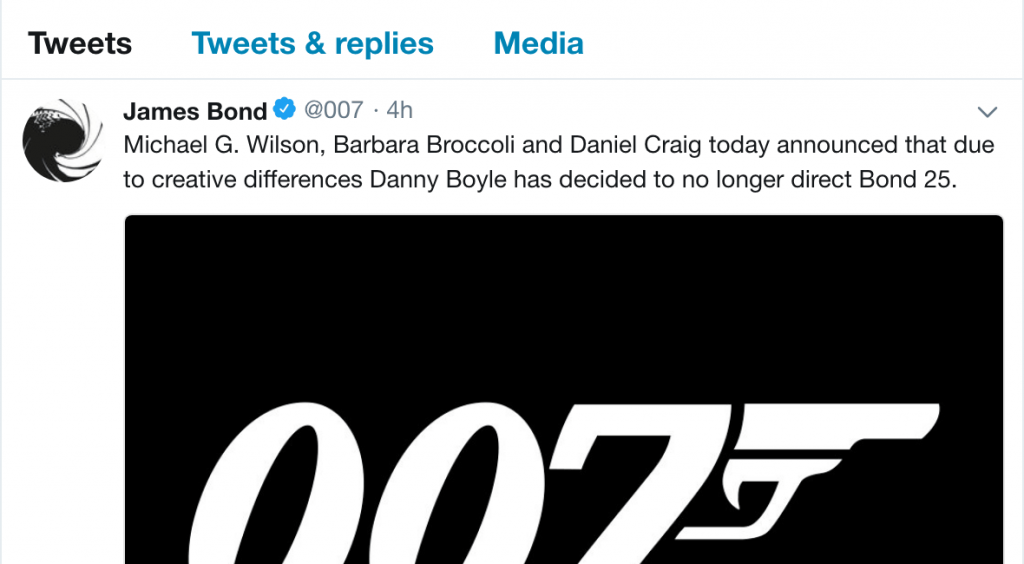 bond 25 twitter boyle out