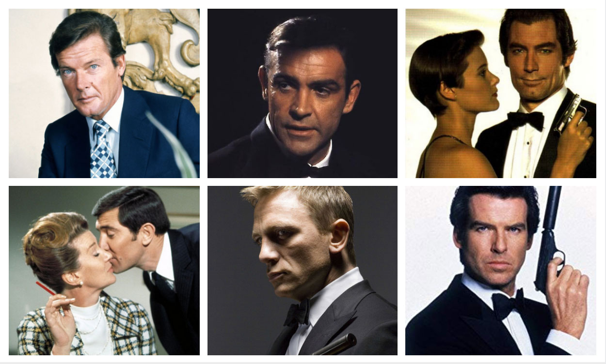 the six james bond actors